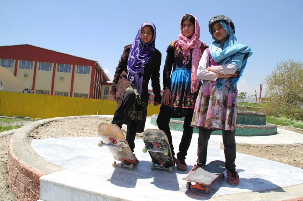 Skateistan_Press Image_ Girls Youth Leaders Crew _©Hamdullah Hamdard-Kabul